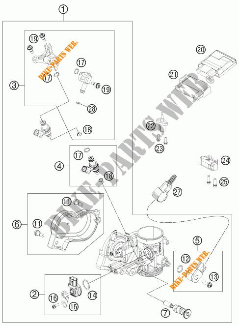 INYECCION para KTM EXC-F 350 2014 # KTM - Catálogo de